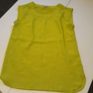 Lime green top.